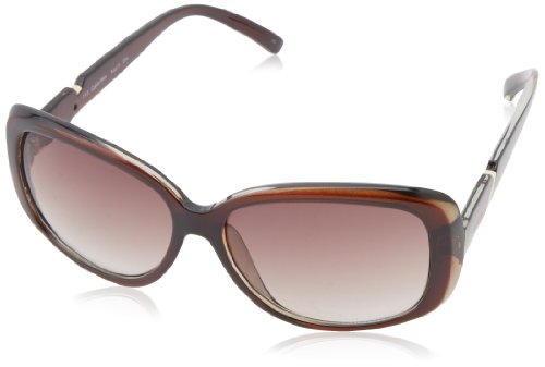 Calvin Klein Women's CWR667S Rectangular Sunglasses,Brown,16 - Women Sunglasses 2014
