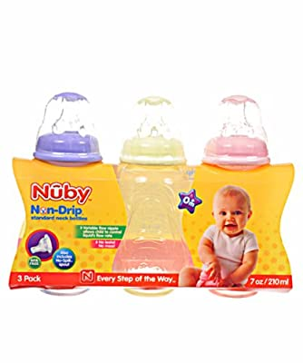 Nuby 3 Pack Tinted Bottle, Colors May Vary by Luv N Care/NUBY