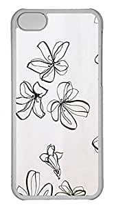 Personalized iPhone 5c Cases - Unique Cool Design White Phalaenopsis 9 by Maris's Diary
