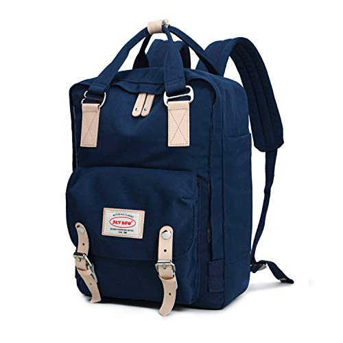 Azul Student Bag School Oxford Oscuro Oscuro Backpack Female Computer hlh Cloth Middle Backpack azul Waterproof BYqxORxWdw