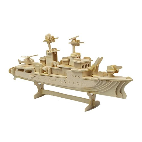 Destroyer Military - Destroyer Military Battleship-Scale Miniature Model - Wooden 3D Puzzle - Handcraft DIY Toys