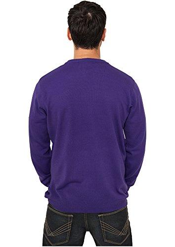Violet Classics Homme purple Pull Knitted Crewneck Urban 00195 XRqTwPfwn