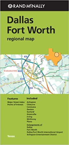 Folded Map Dallas Fort Worth Regional Map Rand McNally