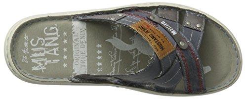 Mustang Herren 4087-704-830 Pantoletten Blau (830 Indigo)