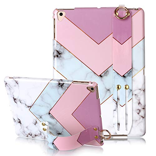 New iPad 9.7 2017/2018 case, Yoomer Marble Design Slim Thin Soft TPU Bumper Glossy Skin Anti-Scratch Protective Case with Adjustable Stand for iPad 9.7 5th / 6th Generation