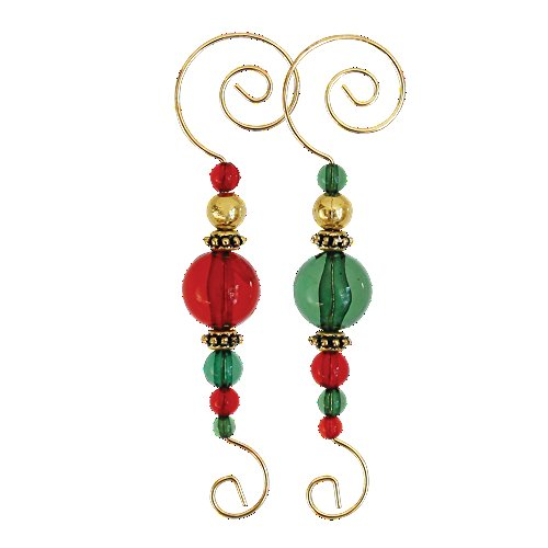 Decorative Christmas Ornament Hooks Beaded Hooks Set Of 12 My