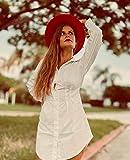 Lanzom Womens Classic Wide Brim Floppy Panama Hat