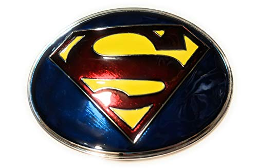 Shield Logo Belt Buckle - SUPERMAN S SHIELD Logo belt buckle Classic DC comics 3.88 inch SuperGifts