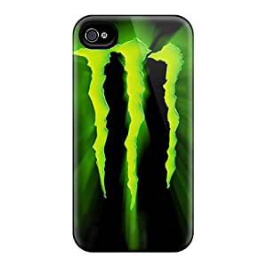 IanJoeyPatricia Apple Iphone 4/4s Protective Hard Phone Covers Unique Design Realistic Monster Logo Image [WwS28129kzeU]