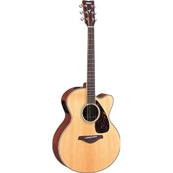 Yamaha FJX720SC Jumbo Solid Top Acoustic-Electric Guitar - Mahogany, Natural