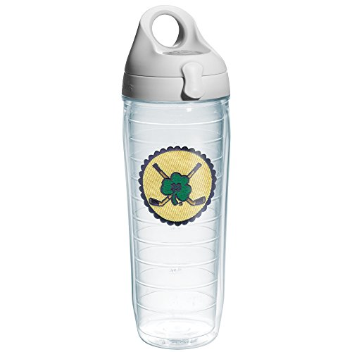 Tervis Notre Dame Hockey Logo Emblem Individual Water Bottle with Gray Lid, 24 oz, (University Logo Water Bottle)
