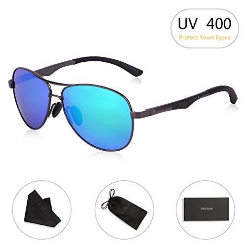 3e7cea368e Aviator Sunglasses RAYSUN Aluminum Polarized Vintage Sun Glasses for Men  Women UV 400