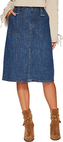 See by Chloe Women's Siganture Denim Skirt Washed Indigo 34 by See by Chloé