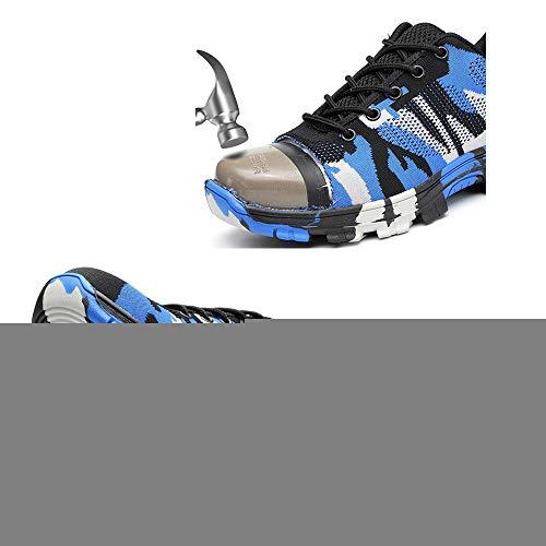 Antinfortunistiche Donna Lavoro Di Camuffare Shoes Uomo Acciaio Punta Piattaform Lacci Verde Nero Trekking Escursionismo Stivali Protezione 38 Scarpe Sneakers In 46 Blu tfC5twq
