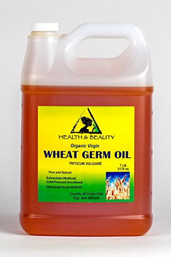 Wheat Germ Oil Unrefined Organic Carrier Virgin Cold Pressed Pure 128 oz, 7 LB, 1 gal