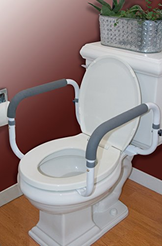 Carex Toilet Support Rail Steel Support Rail With