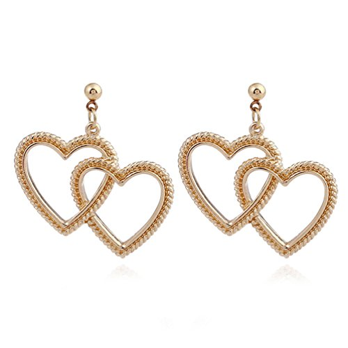 Haotfire Rose Gold Earrings, Women'S Love Knot Stud Earring Costume Jewellery Best Gift For Woman And Girls Ladies (Girl With The Pearl Earring Halloween Costume)
