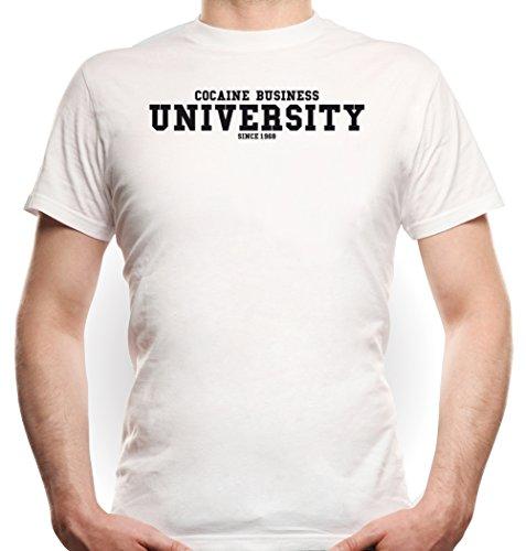Cocaine Business University T-Shirt Bianco Certified Freak