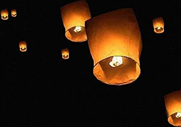 Flying Chinese Lanterns   Pack Of 10