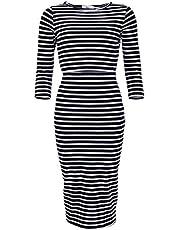 Elma & Me Striped Maternity Nursing Dress