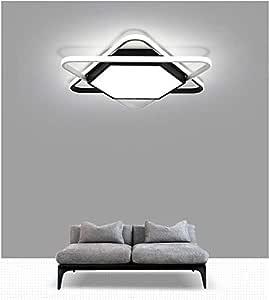 LED Plafond Light, dimbare plafondlamp met afstandsbediening, eenvoudige rechthoekige Licht for de woonkamer, slaapkamer, keuken