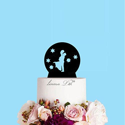 Winter Snow Globe Couple Bride and Groom Winter Wedding Acrylic Wedding Cake (6 inches)