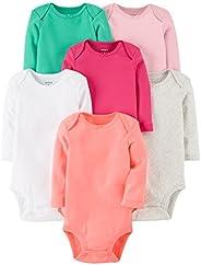 Carter's Baby-Girls 7-Pack Long-Sleeve Bodys