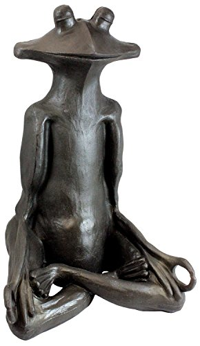 (Emsco Group 92510 Yoga Frog Statue - Natural Appearance - Made of Resin - Lightweight - 21
