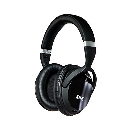 LyxPro HBNC-20 Noise Cancelling Bluetooth Headphones Wireless Comfort-Fit Headset w/ Over Ear Cushioning, Built-In Microphone, Volume Control, Noise-Cancelling Button & Micro USB Charging Cable - Home Audio Noise Canceling Headphones