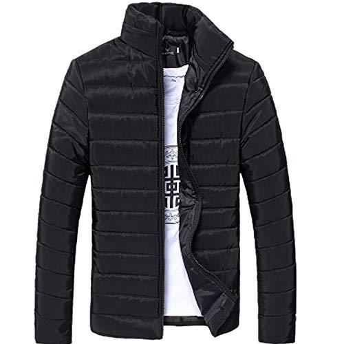 Landscap Men's Winter Cotton Jacket Thickening Warm Cotton Padded Coat Snow Puffer Jacket Quilted Down Jacket(Black,XXL)