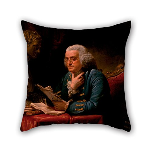 Slimmingpiggy Oil Painting David Martin - Benjamin Franklin Throw Cushion Covers 20 X 20 Inches / 50 By 50 Cm For Pub Festival Car Seat Floor Lounge Boy Friend With Twin Sides