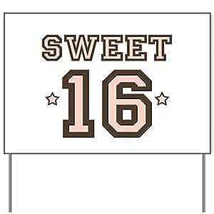 "Sweet 16Yard Sign–18x 24"""