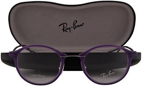 Ray-Ban RX7073 Gafas 47-21-140 Violeta Brillante con Lentes de Muestra 5617 RB7073: Amazon.es: Ropa y accesorios