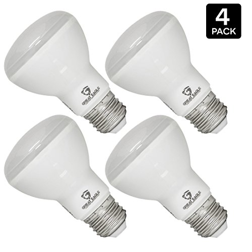 Terrific Eagle (4-pack) LED BR20 or R20 Dimmable Light Bulb. 7W (60W) UL Listed Bright White 3000K Light Bulb for Recessed, Way, and Pendant Lighting Fixtures - USA Seller
