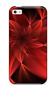 ManuelAW MqhBOWE6596KjlZG Protective Case For Iphone 5c(red Flower Love)