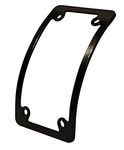 Amazon.com: Curved Motorcycle License Plate Frame - Black: Automotive