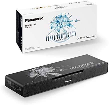 Panasonic SC-HTB01 PC Gaming Speaker Collector's Edition with Built-in Subwoofer (Dolby Atmos and DTS:X, Bluetooth, High-Resolution Audio, HDMI) – Black with Final Fantasy Design [Exclusive to Amazon]