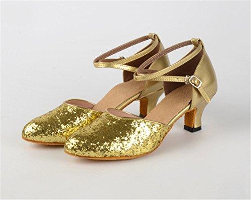 Ruanlei Plaza Lentejuelas de de de Latino shoes Moderna Salón Baile Blandos Golden de Plaza Baile ZrgZwH