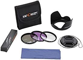 K&F Concept 67mm UV + CPL+ FLD Filtro Kit Compatible con Nikon ...