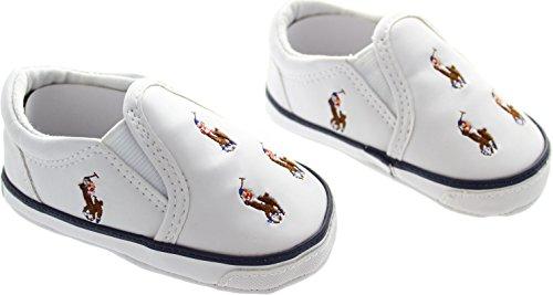 Ralph Lauren  Bal Habour, {Chaussures premiers pas pour bébé (garçon) blanc blanc