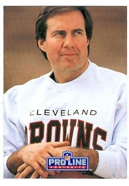 Bill Belichick football card (Browns New Engelnd Patriots coach) 1991 Pro Line #115 Rookie Card ()