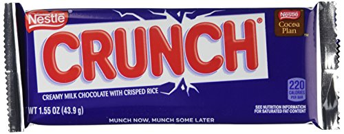 Nestle Crunch Chocolate Single, Candy Bars (Pack of 36) Domino Chocolate
