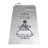 Bolsas de hielo de plástico con cierre de cadena de sorteo - Paquete de 100