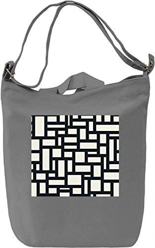 Black And White Modern Texture Borsa Giornaliera Canvas Canvas Day Bag| 100% Premium Cotton Canvas| DTG Printing|