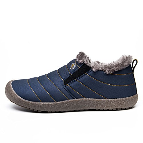 Outdoor Winter Eagsouni Fully Men Blue Anti Waterproof Women Boots Snow low Sneakers Top Slip Ankle Fur Lined Booties q7qgwP