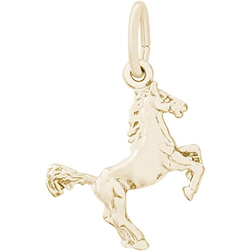 Rembrandt Charms Horse Charm, Gold Plated Silver (Charm Plated Horse Rembrandt Gold)