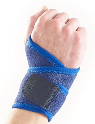 Neo-G Wrist Support - for Joint Pain, Arthritis, Sprains, Strains, Instability, Gym, Sports, Golf, Tennis, Basketball - Adjustable Compression - Class 1 Medical Device - One Size - Blue