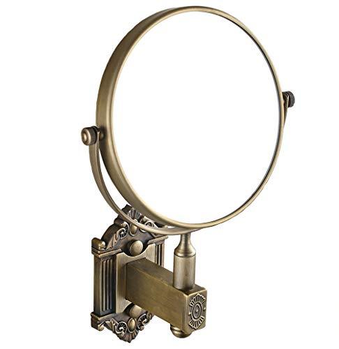 ZHLJ European Archaize Totem Copper Bathroom Mirror, Swivel Mirror, 3X Magnifying, style7 -