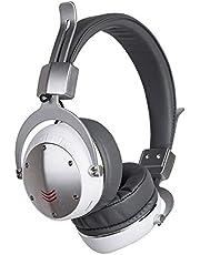Auleset MH6 Vikbar Trådlös Bluetooth Utomhus Hörlurar FM-Radio Bas Stereo Headset - Silvergrå