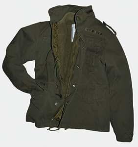 Chaqueta de camuflaje M65 Field Jacket Vintage Style Army chaqueta BW verde-piel talla S